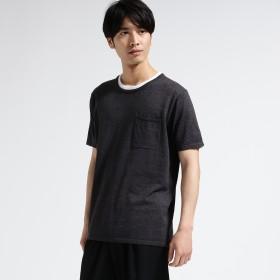 tk.TAKEO KIKUCHI(ティーケー タケオキクチ:メンズ)/フェイクレイヤードプルオーバーニット