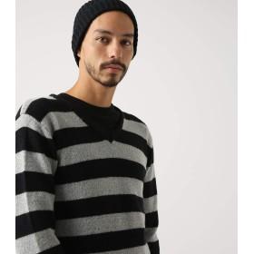 [アズールバイマウジー] ニット セーター ソフトブークレーVネック長袖PO メンズ L 柄杢グレー