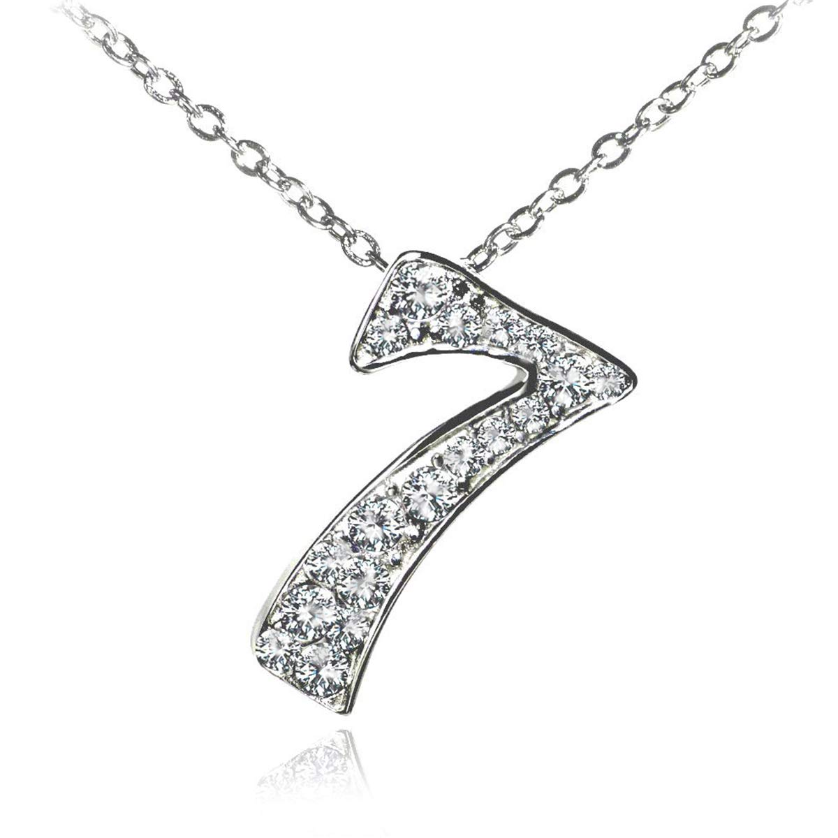 3003 Glamorousky Glistering Strawberry Donut Pendant with Pink CZ and Necklace