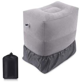 エアー足枕 空気足置き フットレスト 足の疲れむくみ対策 三段階 高さ調節できる 車内 飛行機 バス 家用 オフ