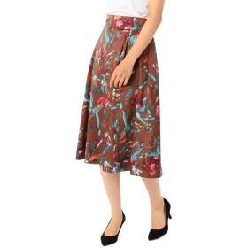 (ノーリーズ ソフィー) NOLLEY'S sophi フラワープリントタックフレアスカート 8-0030-5-06-010 38 ブラウンベージュ系3