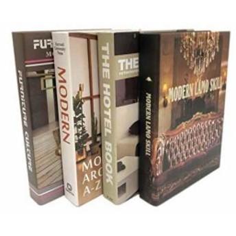 Gran Roi 飾る本 イミテーションブック 西洋書 インテリア本 本の置物 ディスプレイ 4冊セット B(4冊セット B)
