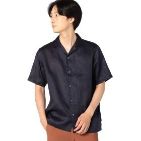 [シップス] シャツ 半袖 オープンカラー メンズ 111520194 ネイビー 紺 L