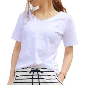 TDB TシャツVネック半袖 S 03.ホワイト atop0082-s-white01