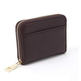 [ターニング]薄さ 2cm / 軽くて 小さい 手のひらサイズ の カラフル 小銭入れ/コインケース /ミニ財布/レディース ブラウン