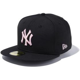 【メーカー取次】 NEW ERA ニューエラ 59FIFTY MLB NY ブラックXピンク 11308568 キャップ(ブラックXピンク 表記7 1/8)