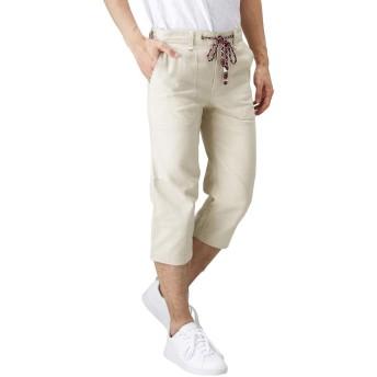 クロップドパンツ メンズ ハーフパンツ ショートパンツ ひざ下 クロップド丈 391124MH メンズ ベージュ:XL
