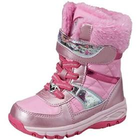 [ムーンスター] キッズブーツ ジュニア シューズ 女の子 ガールズ ウィンターブーツ スパイク付き/防寒 防水 子供靴 16.0-19.0cm ラバーブーツ 2E ラメ きらきら おしゃれ かわいい/SG-WPC57SP (16.0cm, ピンク)