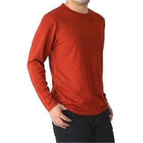 (リミテッドセレクト) LIMITED SELECT M15 カットソー メンズ ドライ ストレッチ 無地 長袖 Tシャツ 吸汗速乾 クルーネック Vネック RQ0871 LL A-9-レッド(クルー)