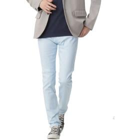 (モノマート) MONO-MART チノパン ストレッチ スリム スキニー カラーパンツ カツラギ メンズ 【スキニー】メンズ サックス XLサイズ