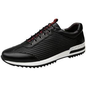 LANSI(レンシー) メンズ スポーツ ブラックシューズ ランニング カジュアル ファッション 通気性 軽量 運動靴 皮靴 速乾生 シンプル 男性用 吸湿性 四季 スニーカー(ブラック-39)