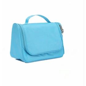 INANA 旅行用ポーチ メイク 化粧用ポーチ コスメバッグ つり下げ可能 大容量 超軽量 機能的  雑貨 小物入れ 持ち運び便利  (ダークブルー)