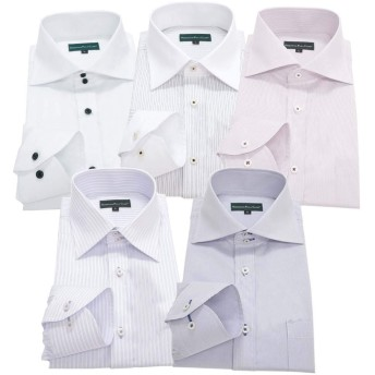 GREENWICH POLO CLUB(グリニッジポロクラブ) 長袖ワイシャツ 5枚セット メンズ pe 022-M