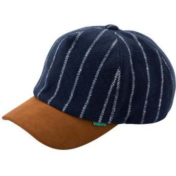 nakota ナコタ メルトンショートトリップキャップ 【ネイビー】帽子 ストライプ ウール 秋 冬 旅 メンズ レディース