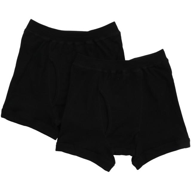 [グンゼ] ボクサーパンツ やわらか肌着 綿100% 抗菌防臭加工 前あき SV61902 メンズ ブラック 日本LL (日本サイズ2L相当)