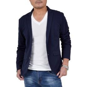【サンタリート】 Santareet メンズ COOL MAX 素材 テーラード ジャケット GW-P9741 LL ネイビー