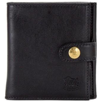イルビゾンテ Il Bisonte 二つ折り財布 ウォレット C0955 ブラック(153 / 135) 財布 レザー 革 [並行輸入品]