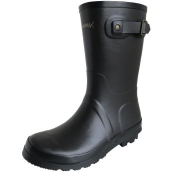 [アマート] レディース ベルト ハーフ ブーツ 長靴 雨靴 通勤 アウトドア 親子 ファミリー 4色 AMT-2102 (L(24.0 cm~24.5 cm), D・ブラウン)