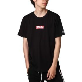 [フィラ] FILA ボックスロゴプリント半袖Tシャツ fh7493 BLACK M