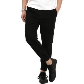 [ロッキーモンロー] ジョガーパンツ メンズ フルレングス ブラック M サイズ