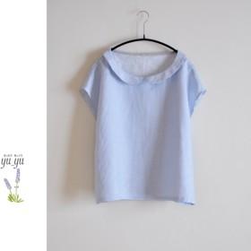 *sale 3800円* フレンチスリーブ ブラウス(丸襟)