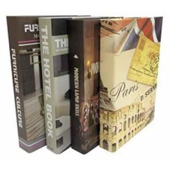 Gran Roi 飾る 本 イミテーション ブック 西洋書 インテリア 置物 ディスプレイ モダン 4冊セット D(4冊セット D)