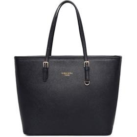 トートバッグ レディース ビジネスバッグ 大容量 2WAY 就活 自立 ショルダーバッグ リクルートバッグ ハンドバッグ 通勤バッグフォーマルバッグ かばん 鞄 バッグ プレゼント 黒 (BLACK)
