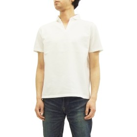 (バーンズ アウトフィッターズ) Barns スキッパー ポロシャツ BR-7100 メンズ 無地 半袖 ポロ衿Tシャツ オフ白 (3(メンズXLサイズ))