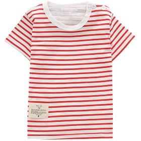 COCO1YA(ココイチヤ) 半袖Tシャツ キッズ ボーイズ ガールズ 柔らかい 綿 ボーダー カジュアル 子供用 男女兼用