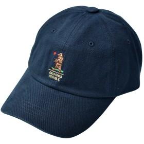 ベア ロゴ 刺繍 ベースボールキャップ 帽子 BBキャップ コットン キャップ メンズ レディース ユニセックス オールシーズン ≪ネイビー≫
