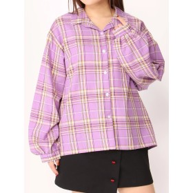 シャツ - WEGO【WOMEN】 パステルカラーチェックシャツ WCK19SP-015