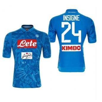 1819年度 Naples サッカーユニフォーム SSCナポリ ホーム ブルー 半袖 No.24 メンズ レプリカ 半袖 M