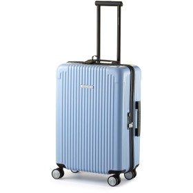 (センチュリオン)CENTURION ジッパータイプ ZIPPER型 スーツケース カラフル おしゃれ 軽量 ビジネス出張 静音 旅行用品 超軽量 大容量 8輪【TSAロック 1年保証】 (26インチ, カリフォルニアブルー)