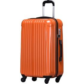 ラッキーパンダ スーツケース TY001 TSAロック ファスナータイプ 2年間修理保証 オレンジ Mサイズ