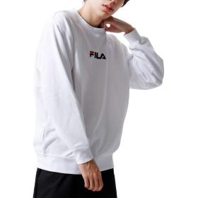 [フィラ] FILA センターワンポイント刺繍クルースウェット fh7473 ホワイト M
