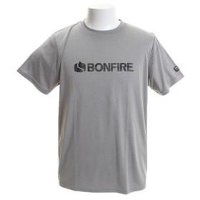 ボンファイア(Bonfire) カモフラージュロゴ ショートスリーブTシャツ 50BNF9SCD2040 GRY (Men's)
