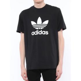(アディダス) adidas フロント ロゴ 半袖 Tシャツ オリジナルス TREFOIL TEE ブラック/L