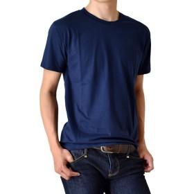 (アローナ)ARONA Tシャツ メンズ 無地 クルーネック 半袖 /M1.5/ 3ネイビー LL