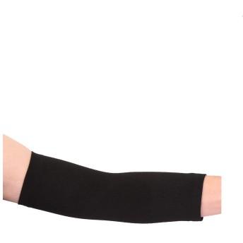 uxcell リストバンド 手首 サポーター 可逆伸縮性 アスレチック ユニセックス ロング肘サポーター(ブラック) M