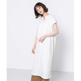[センスオブプレイス] ワンピース ドレス ワッフルロングワンピース レディース OFF WHITE FREE