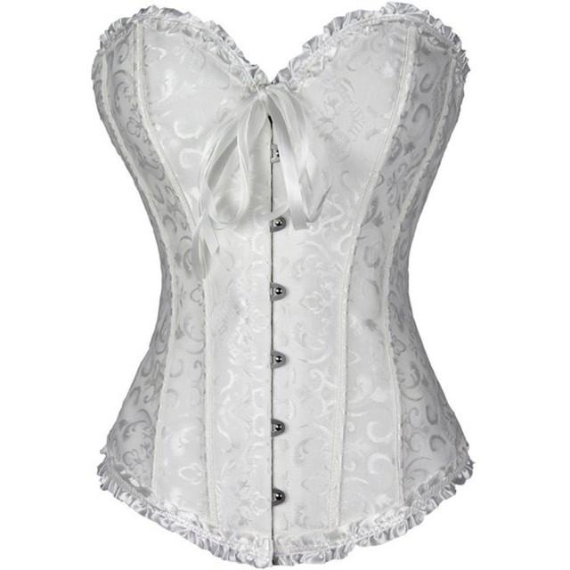 (フィラエィシ) PhilaeEC 大码の女性の結婚式のランジェリー、レースサテンの襟の骨コルセット、Tバック (ホワイト 3XL) 【並行輸入品】