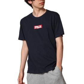 [フィラ] FILA ボックスロゴプリント半袖Tシャツ fh7493 NAVY L