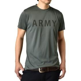 (アルージェ) ARUGE 感動ドライ 吸汗速乾 接触冷感 UVカット UPF50+ 半袖 Tシャツ 脇汗対策 ラッシュガード 水陸両用 メンズ/B4M/LL 05チャコール