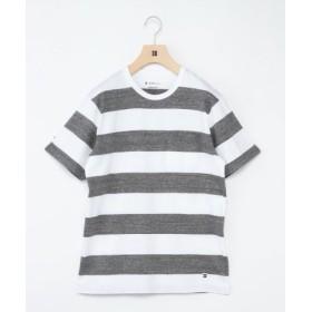 (SHIPS/シップス)SHIPS Days: ワイドボーダー クルーネック Tシャツ/メンズ グレー