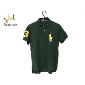 ポロラルフローレン 半袖ポロシャツ サイズXS メンズ 美品 ビッグポニー グリーン×イエロー 新着 20190713