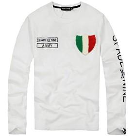 (スカルシリーズ) ロンT 長袖Tシャツ スカル ドクロ SKULL 【XZY4003 XLサイズ】 ホワイト クルーネック トリコロール バックプリント