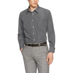 [ドレスコード101] 長袖 ワイシャツ メンズ (選べる ビジネスでもカジュアルでも使える レギュラーカラー) 形態安定 シャツ SB RG4002 グレー(無地) LL