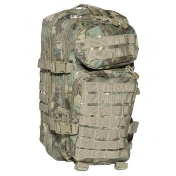 Army Tactical Assault Pack Military Rucksack Hiking MOLLE 20L Arid Woodland Camo by Mil-Tec