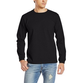 (ユナイテッドアスレ)UnitedAthle オーセンティックスーパーヘヴィーウェイト 7.1オンス 長袖Tシャツ(1.6インチリブ) 426201 [メンズ] 002 ブラック S