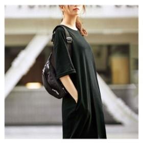 ジーラ バイ リュリュ(ファッション)/【2019夏新着】ポケット付ビッグシルエットTシャツワンピ